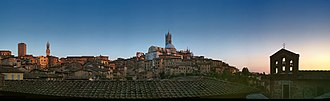Republic of Siena - The historic centre dominated by the Duomo
