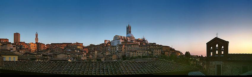 Панорама старой Сиены