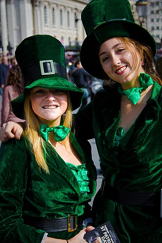 Saint Patrick's Day - Girls wearing green in London