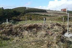 Croaghaun, County Carlow - Towards Croaghaun (photo taken from Corrbut Gap)