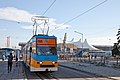 Tram in Sofia in front of Central Railway Station 2012 PD 092.jpg