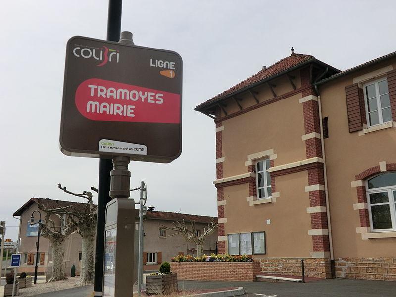 Tramoyes mairie (Colibri bus stop).