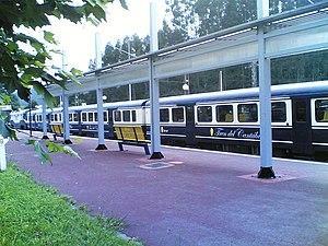 Renfe Feve - Transcantábrico in Liérganes station.