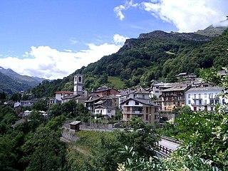 Traversella Comune in Piedmont, Italy