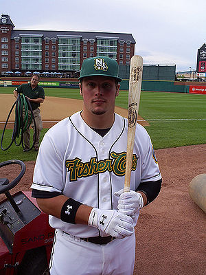 New Hampshire Fisher Cats - Travis Snider while playing for the New Hampshire Fisher Cats