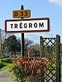 Tregrom. Panneau d'agglomération.jpg