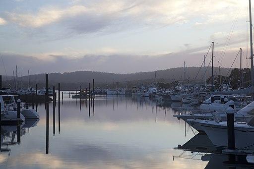 Triabunna tasmania boats morning