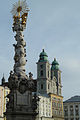Trinity column & cathedral in Linz.jpg