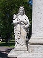 Trinity column detail, Elisabeth of Hungary, Kossuth Square, 2017 Hatvan.jpg