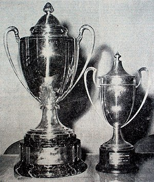 Algerian Cup - Trophies Editions 1963 (right) and 1964 (left).