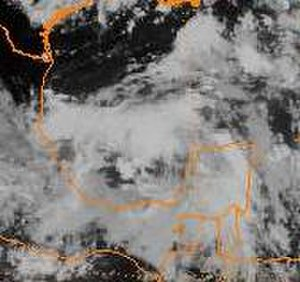 1991 Atlantic hurricane season - Image: Tropical Depression Two Precursor 1991