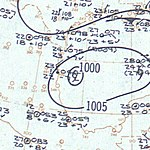 Tropical Storm Beulah surface analysis June 17 1959.jpg
