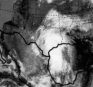 1968 Atlantic hurricane season - Image: Tropical Storm Candy on June 23, 1968