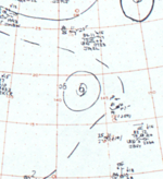 Tropical Storm Lorna surface analysis 12 August 1964.png
