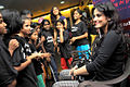 Tulip Joshi interacts with young girls at Arts in Motion's 'Dance with Joy' event 06.jpg