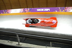 Two-man bobsleigh, 2014 Winter Olympics, Monaco run 3.JPG