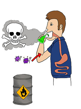 Chemical hazard - Illustration of the types of chemical hazards