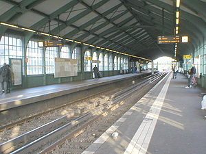 Bülowstraße (Berlin U-Bahn) - Bülowstraße station, U2 platform