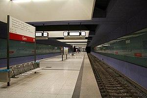 Gern (Munich U-Bahn) - Gern station platform