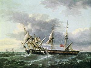 Cruizer-class brig-sloop - Image: U.S.S. Wasp Boarding H.M Brig Frolic