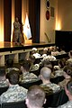 U.S. Marine Corps Sgt. Maj. Bryan Battaglia, the senior enlisted advisor to the chairman of the Joint Chiefs of Staff and the senior Non-commissioned officer in the U.S. Armed Forces, addresses approximately 700 130312-A-JM788-512.jpg
