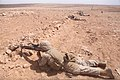 U.S. Marines with Bravo Company, Battalion Landing Team, 1st Battalion, 2nd Marine Regiment, 24th Marine Expeditionary Unit conduct a dry-fire rehearsal with Moroccan soldiers in preparation for the final 120414-M-TK324-125.jpg