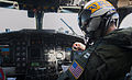 U.S. Navy Lt. Bryan Peterson, assigned to Fleet Logistics Support Squadron (VRC 30), conducts pre-start checks on a C-2A Greyhound aircraft before conducting a functional check flight at Naval Air Station North 130827-N-HF270-048.jpg