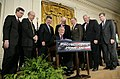 U.S. President George W. Bush signs H.R. 3199, USA Patriot Improvement and Reauthorization Act.jpg