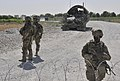 U.S. Soldiers assigned to the 2nd Battalion, 23rd Infantry Regiment monitor traffic in Panjwai district, Kandahar province, Afghanistan, May 23, 2013 130523-A-MX357-169.jpg