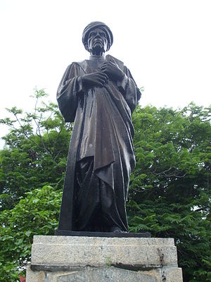 U. V. Swaminatha Iyer - Statue of U. V. Swaminatha Iyer in the campus of Presidency College, Chennai