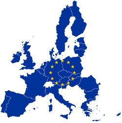Countries with symbolic flag of the European Union