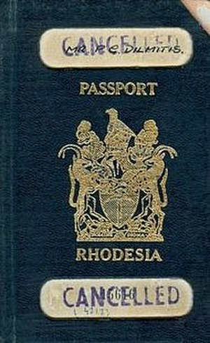Rhodesian passport - Rhodesian passport (1965-1970)