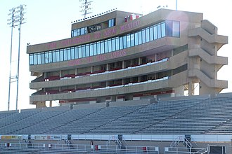 Dreamstyle Stadium - The west stands and press box
