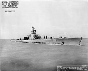 USS Whale (SS-239), 21 April 1945.