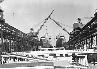 Charleston Naval Shipyard - USS Beatty (DD-640) and USS Tillman (DD-641) at the Charleston Navy Yard in 1941