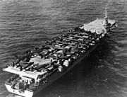 USS Cape Esperance (CVE-88) transporting aircraft to Korea c1951