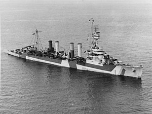 USS Detroit (CL-8) off Port Angeles, Washington (USA), on 14 April 1944 (19-N-63828).jpg