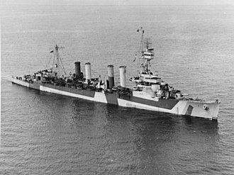 USS Detroit (CL-8) - Image: USS Detroit (CL 8) off Port Angeles, Washington (USA), on 14 April 1944 (19 N 63828)