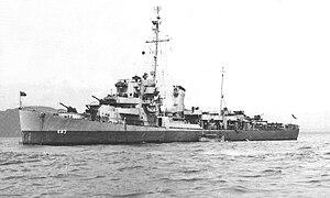 USS Henry R. Kenyon (DE-683) at anchor, circa in 1944