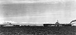 USS Leyte (CV-32) and USS Oriskany (CV-34) at Genoa 1951.jpg