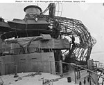 USS Michigan BB 27 collapsed cage foremast.jpg