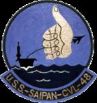 USS Saipan (CVL-48) insignia, 1953 (NH 70134-KN).png