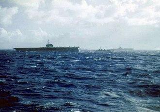 USS Saratoga (CV-60) - Saratoga during NATO Operation Strikeback (1957)