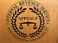 US IRS Office of Appeals seal on lectern 001.jpg
