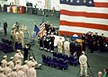 US Navy 020306-N-8704K-001 USS Kennedy - LCDR Blaschum memorial service.jpg