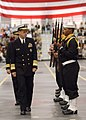 US Navy 031031-N-5576W-007 Vice Chief of Naval Operations (VCNO) Adm. Michael G. Mullen, inspects the recruit drill team during graduation ceremonies at Recruit Training Command (RTC) Great Lakes.jpg