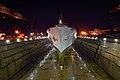 US Navy 040412-N-8955H-149 USS Blue Ridge rests in the Naval Ship Repair Facility dry dock located in Yokosuka, Japan.jpg