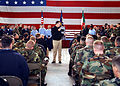 US Navy 050128-N-1550W-009 Commander U.S. Naval Forces Europe, Adm. Michael G. Mullen, talks with sailors assigned to Naval Air Station Sigonella, Italy, during an all hands call.jpg