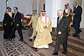 US Navy 071206-F-6655M-911 Defense Secretary Robert M. Gates walks with Crown Prince His Majesty Hamad bin Al-Khalifa.jpg
