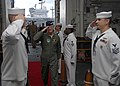 US Navy 100824-N-6764G-091 Gen. Douglas Fraser arrives aboard USS Kearsarge (LHD 3) for a guided tour.jpg
